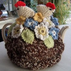 """""""The first """"Tea Cozies"""" book   (a charming introduction to knitted, crocheted, or sewn covers that keep a teapot warm) was so popular tha..."""