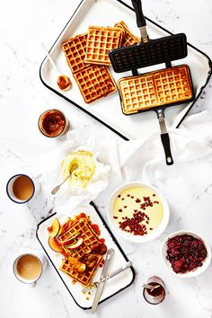 These gluten-free waffles are perfect for a weekend morning treat.