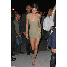 Firmly planted in the fashion industry thanks to both her illustrious modeling career and her famous family, Kendall Jenner has a wardrobe that incites envy from just about everyone. Case in point, the glittery crystal-embellished Saint Laurent… August Getty, Kendall Jenner Style, Head To Toe, Celebrity Style, Saint Laurent, White Dress, Bodycon Dress, Celebrities, Model