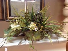 Floral arrangement at Something Special. Spring decorating ideas.