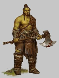 Orc and Stuff, Betty Jiang on ArtStation at https://www.artstation.com/artwork/orc-and-stuff