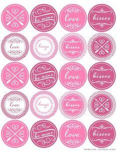 Round Valentine's Day Themed Printable Label Design - Label Templates - OL5375 - OnlineLabels.com