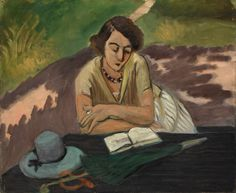Henri Matisse Reading Woman with Parasol 1921