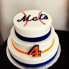 New York Mets Themed Birthday Cake
