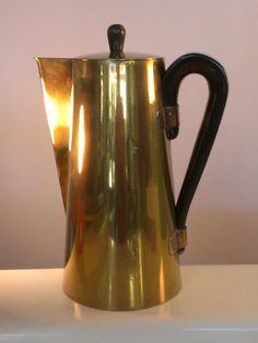 Vintage Tommy Parzinger brass Pitcher by PREVIEWMOD on Etsy, $295.00