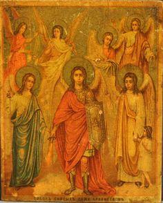 Michael, Gabriel, Raphael, Uriel, Selaphiel, Jegudiel, and Barachiel. Council of Seven Holy Archangels