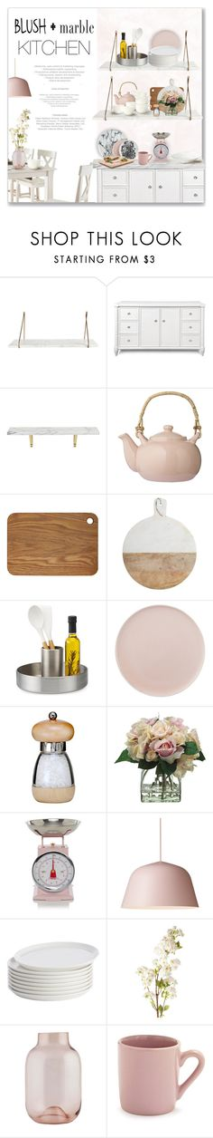 """Blush + Marble"" by m-aric ❤ liked on Polyvore featuring interior, interiors, interior design, home, home decor, interior decorating, Bungalow 5, CB2, Bloomingville and Magnus Design"