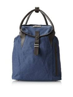 Love this indigo men s canvas with contrast leather trim backpack-  meets-tote. K by Krane Men s Karel Rucksack (Marine Blue Brown) e119c99b45