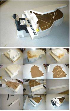 Piano cake tutorial                                                                                                                                                                                 Más