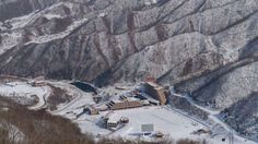 4/25/17 There's no business like snow business at North Korea's ski resort where a day pass costs a month's salary  Resort executives say it sees 70,000 visitors a year. Aside from the nursery slopes, it is deserted    North Korea's Masikryong ski resort, the only one of its kind in the country, was inspired by leader Kim Jong-un's time at school in Switzerland . Photo: AFP