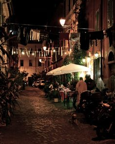 Evening in Trastevere Photograph by VitaNostra on Etsy Rome Trastevere, Wonderful Places, Beautiful Places, Rome At Night, Visit Rome, Bella Roma, Sunday Sauce, Mario Batali, Fantasy Places