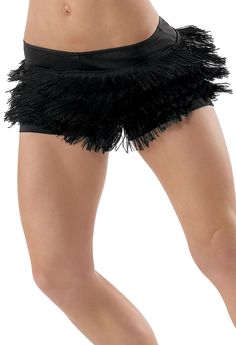 For my leggy dancers. Could be paired with a pink or red bandeau top, or fringe halter.