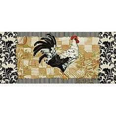 Bergerac Rooster Kitchen Accent Rug (1'8 x 3'9) | Overstock.com Shopping - Great Deals on Accent Rugs