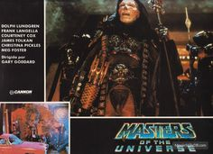 Masters Of The Universe lobby card with Frank Langella