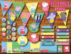 Printable Peppa Pig Birthday Party Decoration por CEVADesigns