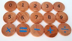 Montessori Math Game - Montessori Education Natural Wood Toy via Etsy