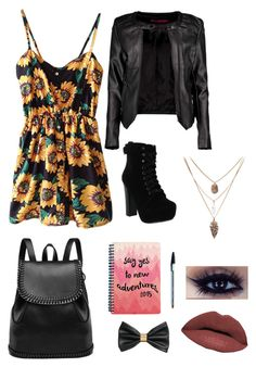"""First day of college"" by nicole-alexandra7 ❤ liked on Polyvore featuring Chelsea Crew, Boohoo, H&M and LORAC"