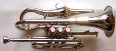 ECHO CORNET in Bb. BEAUTIFUL 1900s STYLE COLLECTIBLE INSTRUMENT