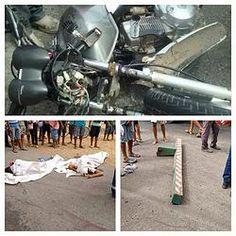 NONATO NOTÍCIAS: DOIS JOVENS MORREM  EM ACIDENTE ENTRE MOTO E CARRE...