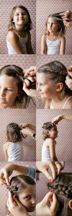 20 Quick And Easy Braids For Kids (Tutorial Included) 20 tranças para meninas Little Girl Braids, Little Girl Hairstyles, Pretty Hairstyles, Braided Hairstyles, Girls Braids, Kids Hairstyle, Hairstyle Ideas, Braids For Kids Tutorial, Toddler Hair