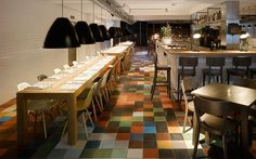 Concrete Architectural Associates is the firm behind the refurbished Witteveen Brasserie in Ceintuurbaan in Amsterdam. The venue was well-known in Amsterdam in the 1970s and '80s, and the refreshed design references elements found in the original building. Picture: Ewout Huibers; TASCHEN