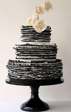 Black and white ruffles