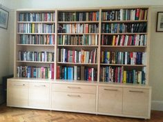 """Chalkhouse """"book matched"""" maple bookcase"""