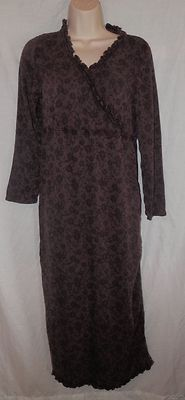 J Jill Dresses | Womens J Jill Dress XS Purple Grape Maxi Long Sleeve VNeck Crossover ...