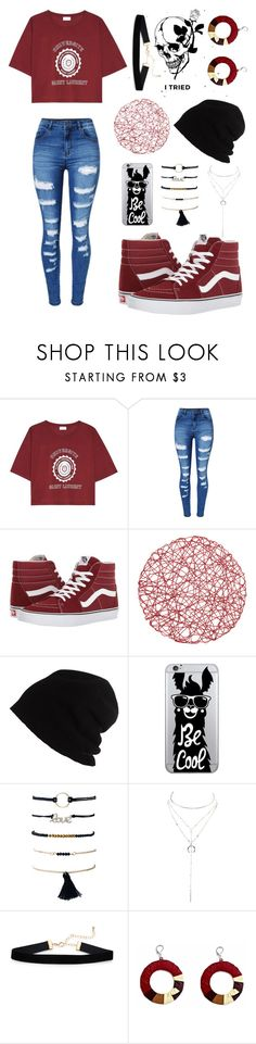 """""""My style"""" by keren300 ❤ liked on Polyvore featuring Yves Saint Laurent, WithChic, Vans, SCHA, OTM Essentials and Charlotte Russe"""