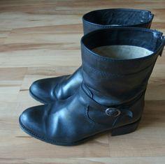 Duo | Dexter Black Leather Boots Uk 41 (10.5/11)