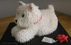 Just a little westie cake…simply made with sponge, jam , buttercream, fondant and love xx