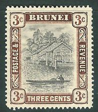 Brunei 1907 grey-black/chocolate 3c  mint