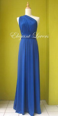 Blue Sexy Evening Dress Blue Bridesmaid Dress by Elegantlovers 5c0c3d25f5c7