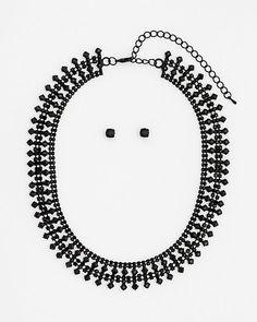Le Château: Gem Earrings and Necklace Set
