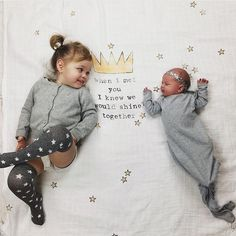 Sisters! @little_luna3 Crown Swaddles at spearmintLOVE.com
