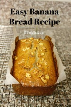 This easy banana bread recipe is moist and delicious. If you're a rookie baker, you can't go wrong but we've added baking tips to be sure. Made with simple ingredients, add some walnuts for that extra crunch, you're gonna keep making them. Easy Banana Bread, Banana Nut, Banana Bread Recipes, Filipino Recipes, Baking Tips, Vegetarian, Simple, Homeschooling, Desserts