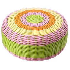 POUF SCOUBIDOU Pastel Furniture, Furniture Decor, Outdoor Furniture, Outdoor Decor, Diy Crafts And Hobbies, Crafts For Kids, Plastic Lace Crafts, Crewel Embroidery, House Colors