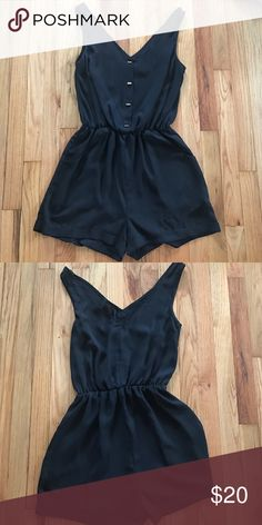 H&M romper Black, back is sheer. H&M Other