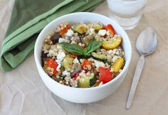 Israeli Couscous Salad with Roasted Vegetables Recipe | Two Peas & Their Pod