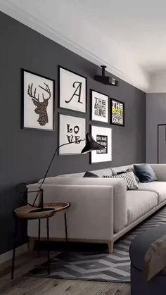 Custom furniture & luxury furniture manufacturer from China Living Room Decor Cozy, Living Room Modern, Room Decor Bedroom, Living Room Colors, Home Room Design, Interior Design Living Room, Living Room Designs, Dark Grey Walls Living Room, 3d Home
