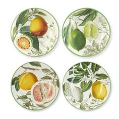 Summer! Botanical Citrus Salad Plates from @Williams-Sonoma