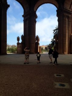 Inside the palace of fine arts in San Francisco