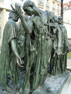Musee Rodin - The Burghers of Calais. One of my Art History essays is on this sculpture, I gotta see this for real! Auguste Rodin, Musée Rodin, Modern Sculpture, Bronze Sculpture, Sculpture Art, Camille Claudel, History Essay, Art History, French Sculptor