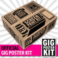 more money than I have in my pocket, but this would be so much fun... DIY Gig Poster Screen Printing Kit...