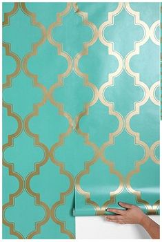 Removable wall paper. And this could be good on props too, comes in so many patterns, and styles....use anywhere and then it comes off....