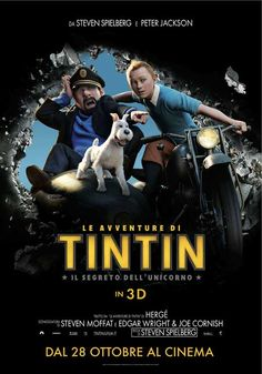 The Adventures of Tintin: The Secret of the Unicorn (Italian) 11x17 Movie Poster (2011)