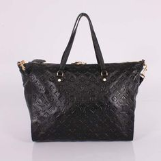 Louis Vuitton Monogram Empreinte Handbag Infini LV M93420 Black