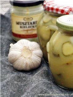 ogórki w musztardzie Preserves, Pickles, Garlic, Salads, Food And Drink, Vegetables, Cooking, Preserve, Preserving Food