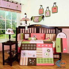 Baby Boutique Floral Dream Girl 13PCS Nursery CRIB BEDDING SET