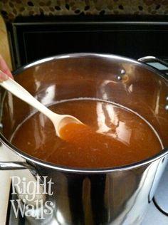 Cook Apple Pie Moonshine. Recipe I used last year. So good!